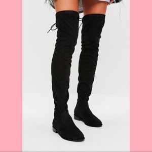 Black Missguided Over the Knee Boots